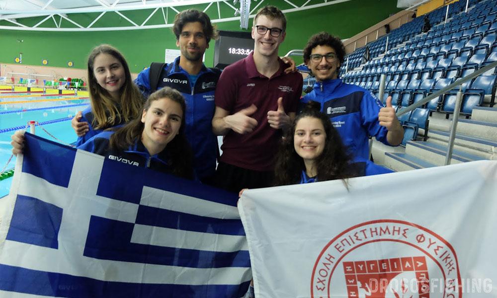 Έλληνες φοιτητές-αθλοσώστες σε μια αναμνηστική φωτογραφία με τον Πρόεδρο του BULSCA, Jared Wray. Α-Δ: Κατερίνα Καλέμη, Εμμανουέλα Κάρδαρη, Ιάκωβος Χασάπης, Jared Wray, Γιάννης Χαλκιαδάκης, Διονυσία Κάρδαρη.